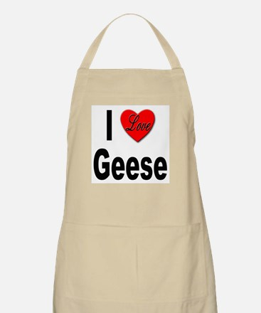 I Love Geese BBQ Apron