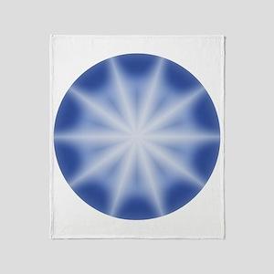 Blue Star Globe Throw Blanket