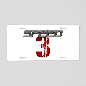 SPEED 3 Aluminum License Plate