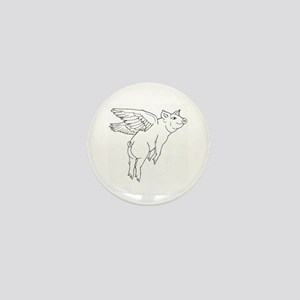AFB Flying Pig Mini Button