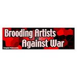 Brooding artists against war sticker