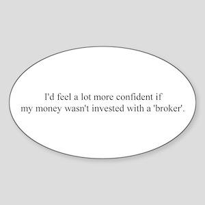 Broker Oval Sticker