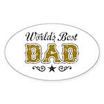 World's Best Dad Sticker (Oval)
