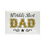 World's Best Dad Rectangle Magnet