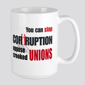 SUPPORT RIGHT TO WORK Large Mug