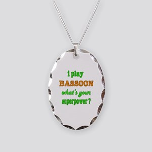 I play Bassoon what's your sup Necklace Oval Charm