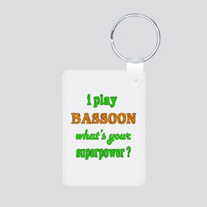 I play Bassoon what's your Aluminum Photo Keychain
