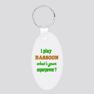 I play Bassoon what's your Aluminum Oval Keychain