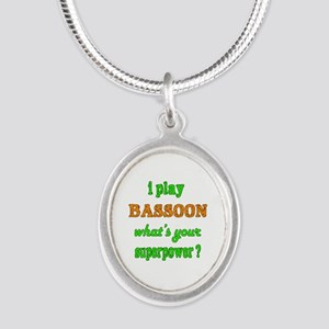 I play Bassoon what's your su Silver Oval Necklace