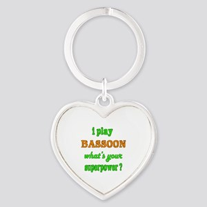 I play Bassoon what's your superpow Heart Keychain