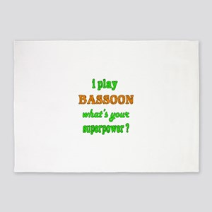 I play Bassoon what's your superpow 5'x7'Area Rug