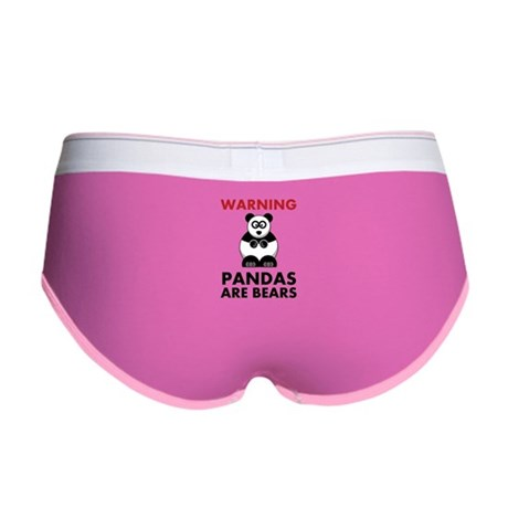 Warning Pandas Are Bears! Women's Boy Brief