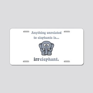 Irrelephant Aluminum License Plate