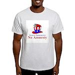 No Amnesty Hat Mouse Ash Grey T-Shirt