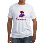 No Amnesty Hat Mouse Fitted T-Shirt