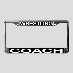 Wrestling Coach License Plate Frame