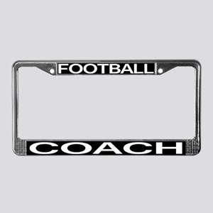 Football Coach License Plate Frame