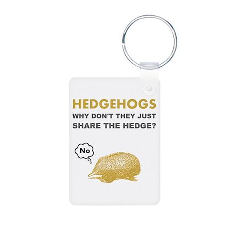 Hedgehogs Aluminum Photo Keychain