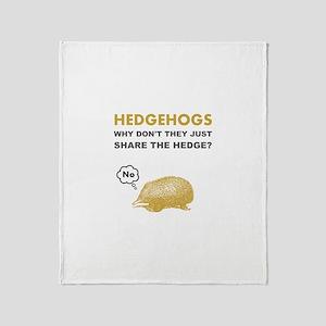 Hedgehogs Throw Blanket