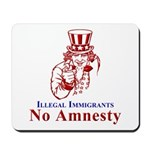 No Amnesty Red Uncle Mousepad