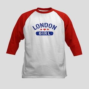 London Girl Kids Baseball Jersey
