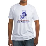 No Amnesty Blue Uncle Fitted T-Shirt