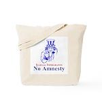 No Amnesty Blue Uncle Tote Bag