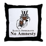No Amnesty Uncle Throw Pillow