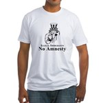 No Amnesty Blk/Wht Fitted T-Shirt