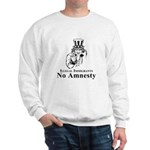 No Amnesty Blk/Wht Sweatshirt