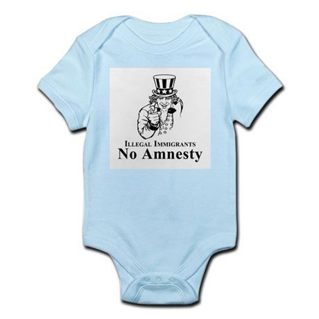 No Amnesty Blk/Wht Infant Creeper