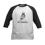No Amnesty Blk/Wht Kids Baseball Jersey