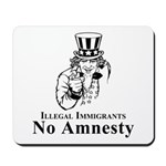 No Amnesty Blk/Wht Mousepad