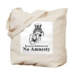No Amnesty Blk/Wht Tote Bag