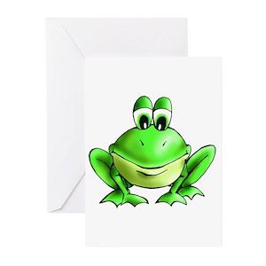 Frog prince greeting cards cafepress m4hsunfo