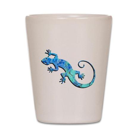 Malachite Blue Gecko Shot Glass