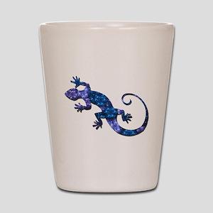 Blue Gecko Shot Glass