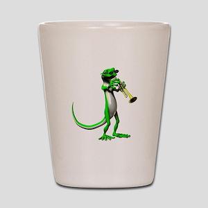 Blues Trumpet Gecko Shot Glass