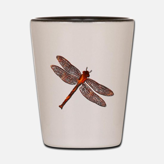 Fire Dragonfly Shot Glass