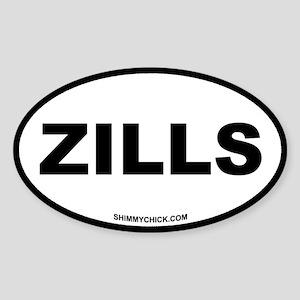 Zills Oval Sticker