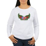 Texas Heart with Wings Women's Long Sleeve T-Shirt