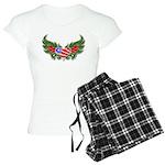 Texas Heart with Wings Women's Light Pajamas