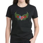 Texas Heart with Wings Women's Dark T-Shirt