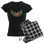 Texas Heart with Wings Women's Dark Pajamas