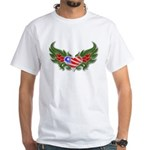 Texas Heart with Wings White T-Shirt