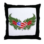 Texas Heart with Wings Throw Pillow