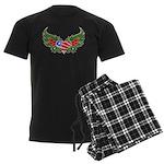 Texas Heart with Wings Men's Dark Pajamas