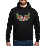 Texas Heart with Wings Hoodie (dark)