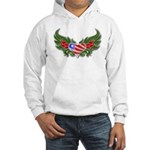 Texas Heart with Wings Hooded Sweatshirt