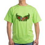 Texas Heart with Wings Green T-Shirt